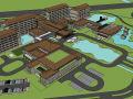 文化旅游度假村酒店建筑设计模型
