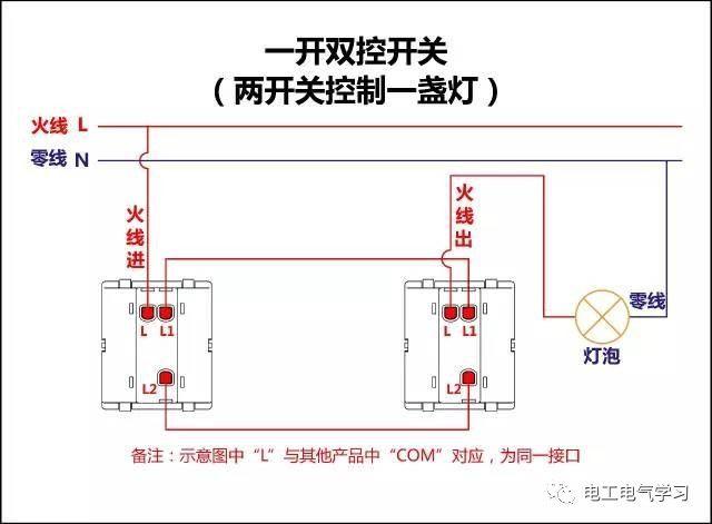 【电工必备】开关照明电机断路器接线图大全非常值得收藏!_6