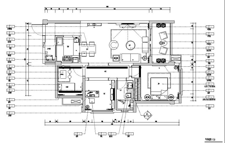 华日双城.理想雅苑A3二居室样板房施工图(附效果图)