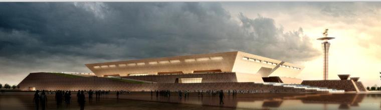 河南西部某博物馆建筑方案设计文本(CAD+文本).