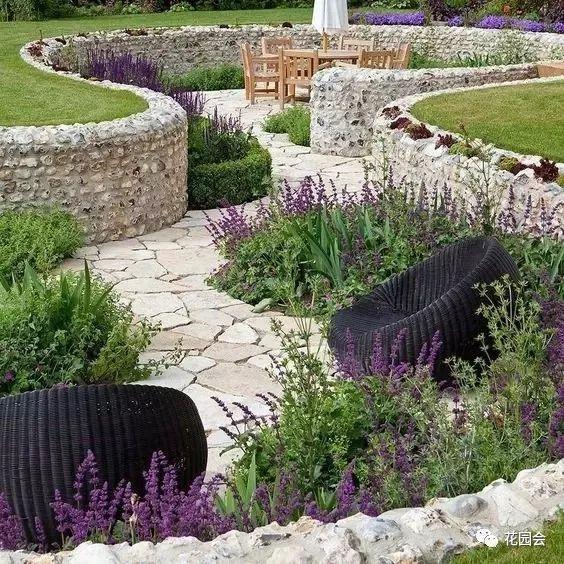 花草与石板的关系•花园小径_23