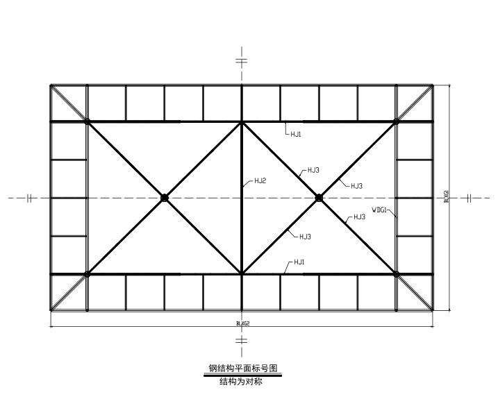 加油站膜结构施工图(CAD、13张)