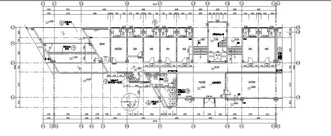 宿舍楼平面技术图纸