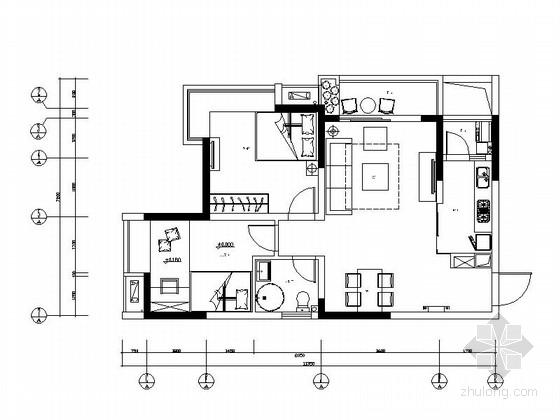 [广东]优质现代风格精装房室内装修图(含效果图)