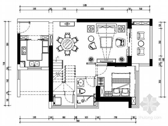 [深圳]传统繁华中心区高档现代复式室内装修施工图