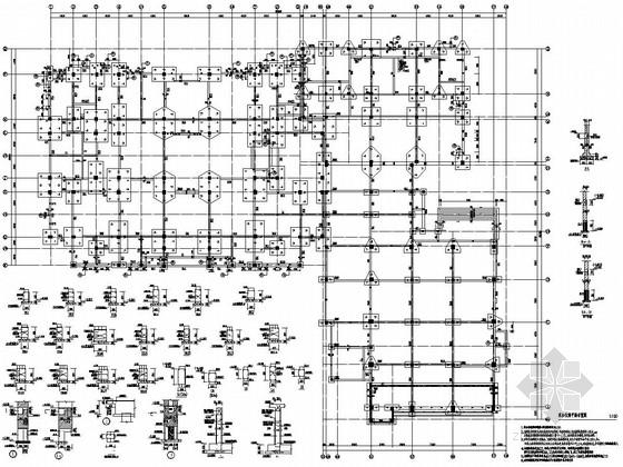 [上海]六层框架结构行政楼结构施工图