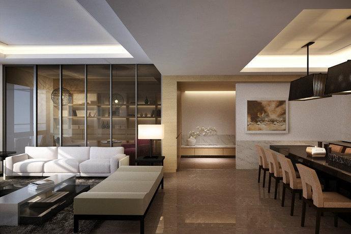 264平简约中式风格四居室主卧装修效果图