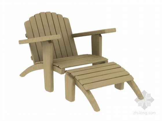 室外休闲躺椅3D模型下载