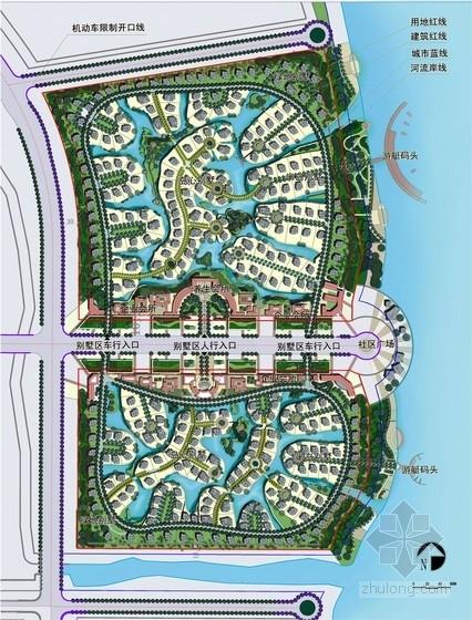 新古典风格住宅规划总平面图