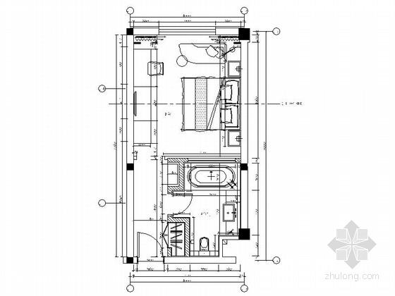 [青岛]园林特色酒店禅意大床间装修施工图(含效果)