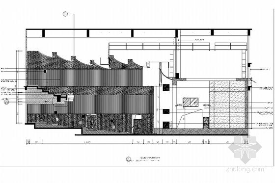 [江苏]1省级重点实验中学艺术中心室内施工图 报告厅立面图
