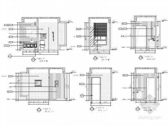 [重庆]时尚现代风格三居室室内装修施工图公卫立面图