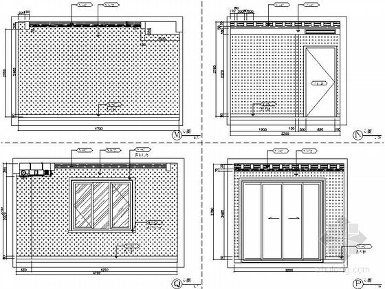 [昆山]新古典双层别墅样板房装修图(含效果)书房立面图