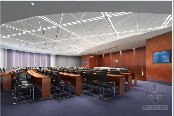 [南京]国家旅游景区现代科技活动中心室内装修施工图(含效果)会议室效果图