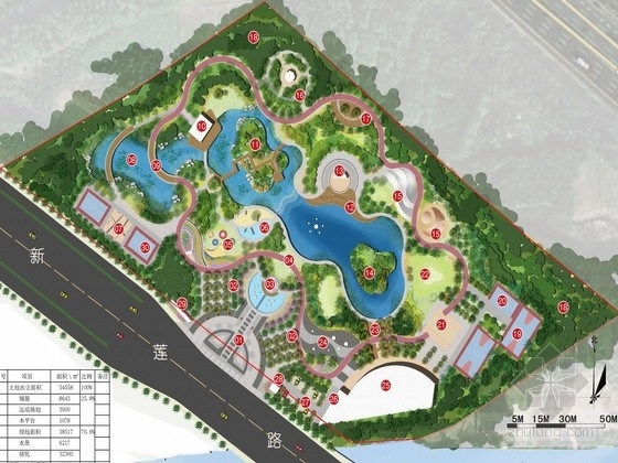 [苏州]现代简约活力动感体育公园景观规划设计方案