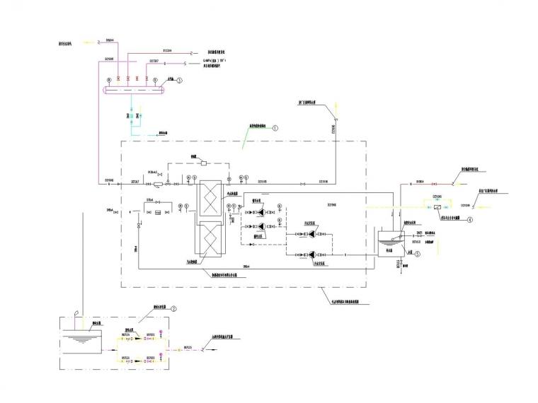[宁夏]加热站冷热源系统设计施工图