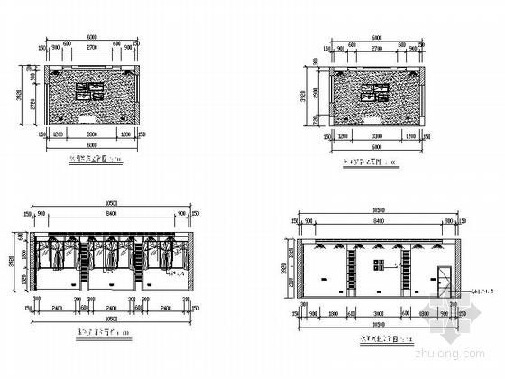 [毕业设计]中式风情度假酒店设计装修施工图休闲室立面图
