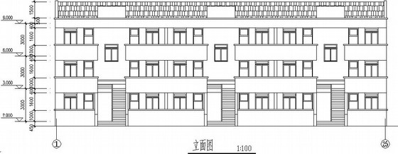 三层混合结构职工公寓全套施工图