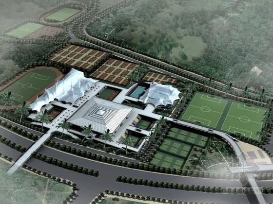 [广东]7层大型体育馆建筑设计方案文本(含CAD)