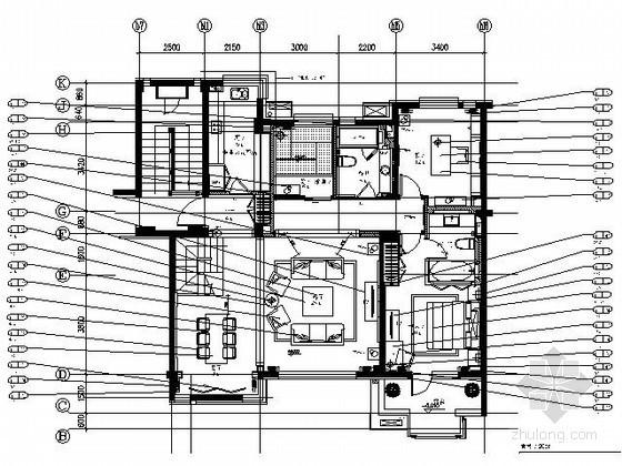 [沈阳]90平米泰式混搭宗教风格样板间施工图(含实景)