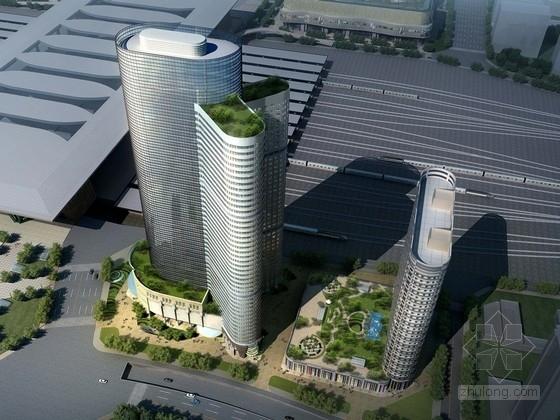 [四川]现代风格办公楼及超高层酒店建筑设计方案文本