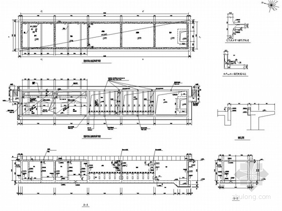 ITT污水深度处理资料下载-污水处理站深度处理组合池平面图及详图