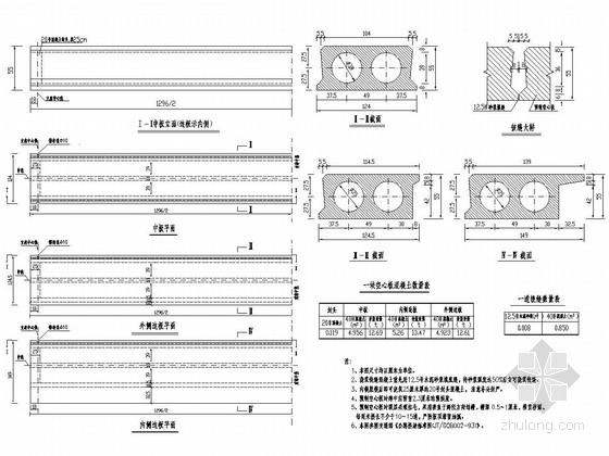 [山东]7孔13钢筋混凝土板桥改造施工图设计20张