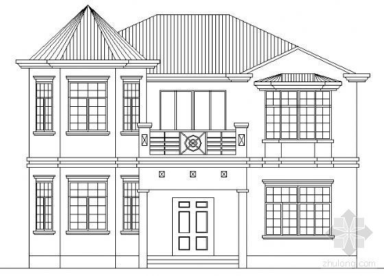 某二层小别墅建筑方案图带效果图