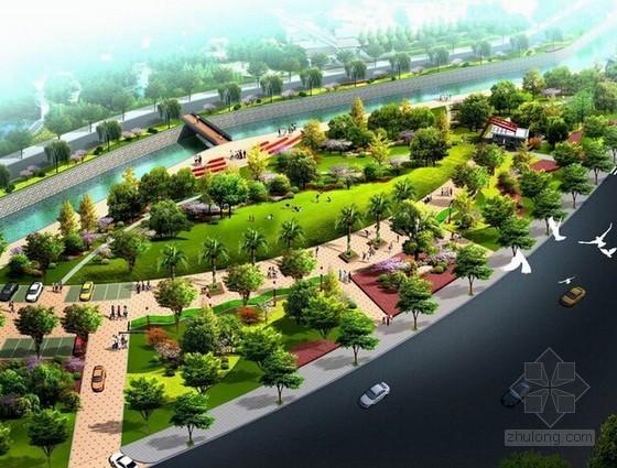 [安徽]滨河绿地景观工程量清单控制价(含图纸)
