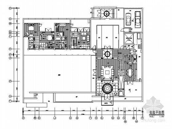 [江苏]新中式意蕴悠长三层别墅室内施工图