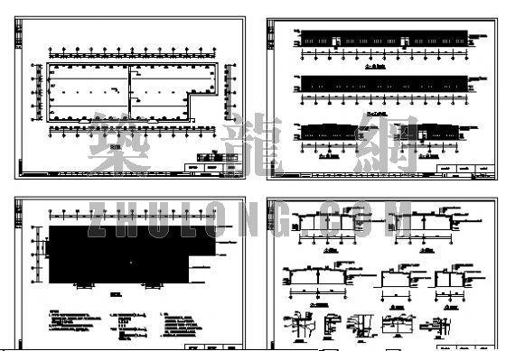 钢结构车间建筑和结构图