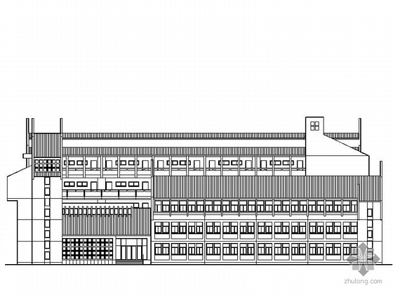 [舟山]某五层中学教学楼的建筑施工图