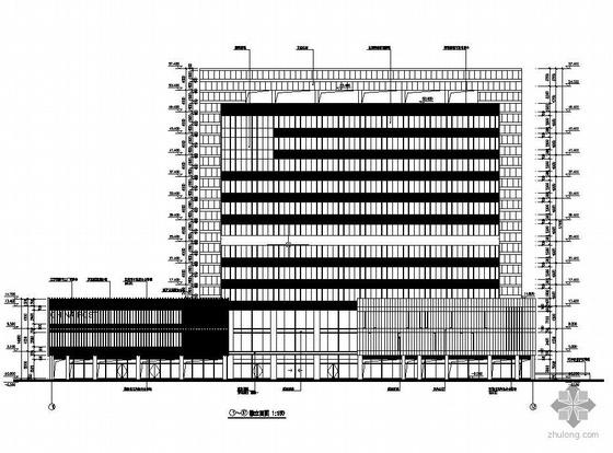 苏州某15层带人防车库框架剪力墙高层结构图