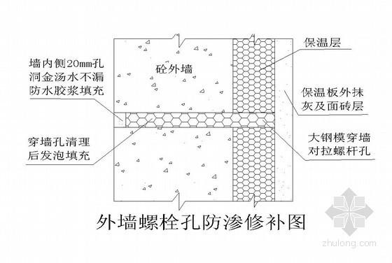 剪力墙穿墙螺栓眼封堵方案(86式全钢大模板)