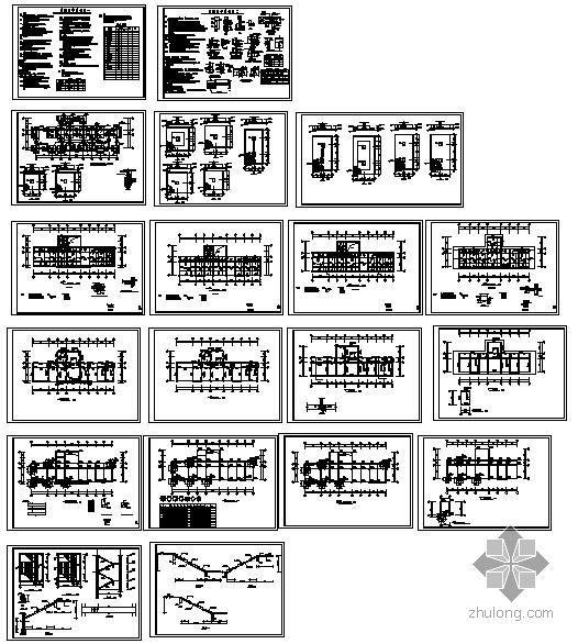 某四层社区服务中心楼结构设计图
