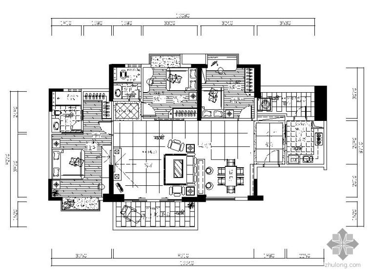 [广东]三室二厅样板房装修图