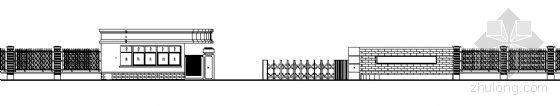某厂区围墙大门建筑施工图