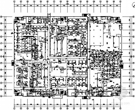 [深圳]大型工业厂房暖通设计全套竣工图纸(净化系统 气体动力系统)