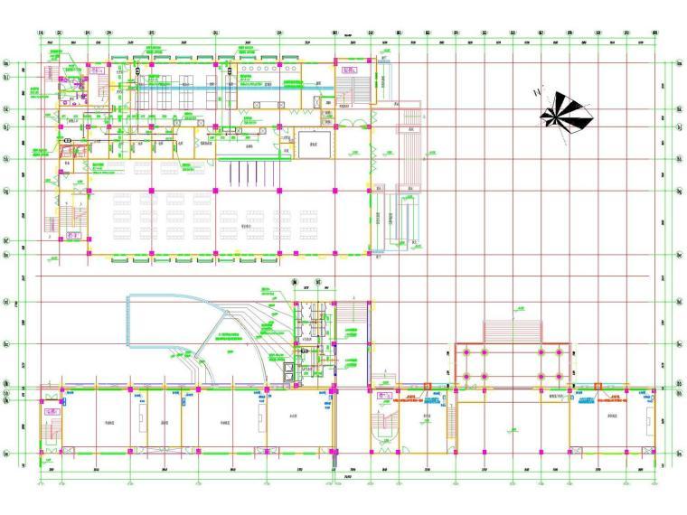 [江苏]多层教学楼暖通通风防排烟系统设计施工图