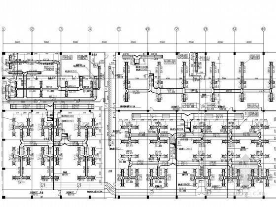 [江苏]联合厂房空调及通风排烟系统设计施工图(风冷热泵)