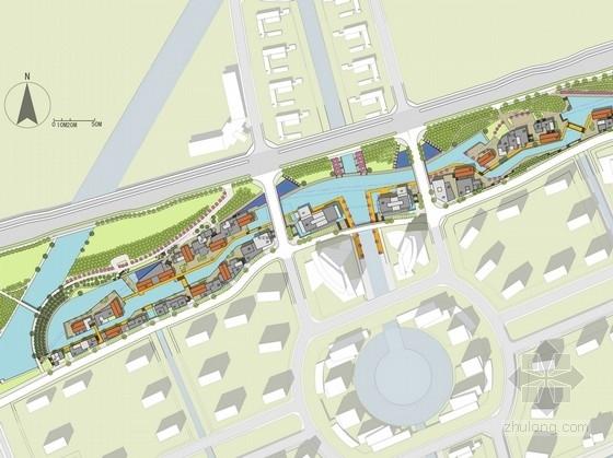 """[扬州]""""水街""""滨水商业步行街道路景观规划设计方案"""