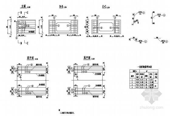 1×10米预应力混凝土空心板封锚端钢筋构造节点详图设计