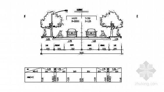 [湖南]2014年市政道路施工图初步设计全套111张(含排水绿化交通)