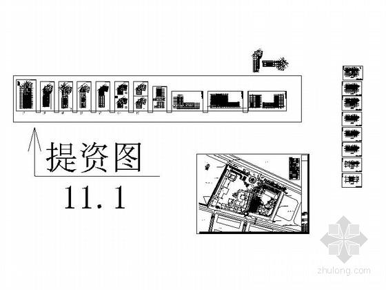 [四川]现代风格高层商务酒店建筑设计方案图-总缩略图