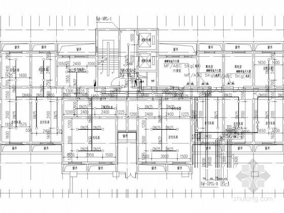 [北京]农民回迁安置住宅楼采暖及防排烟系统设计施工图(含给排水系统设计)