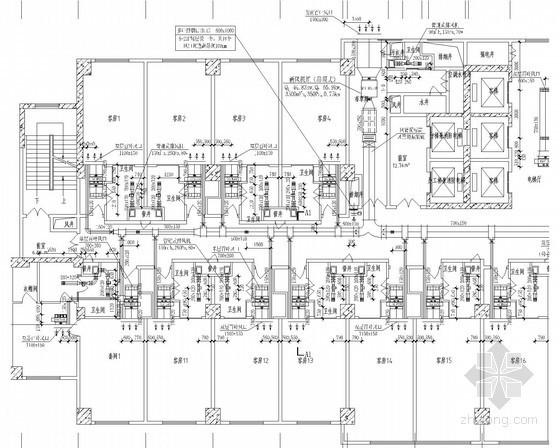 [四川]高层酒店建筑空调通风及防排烟系统设计施工图(厨房汽水系统流程)