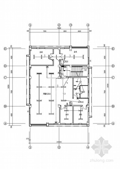 [天津]加工区小型办公电气施工图(甲级院设计)