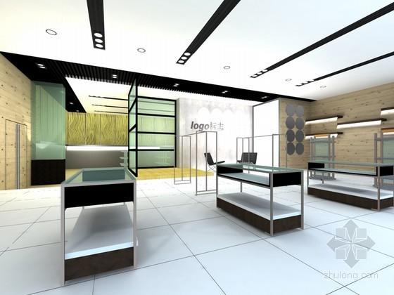 vr展厅3d模型资料下载-运动商品展厅3D模型下载