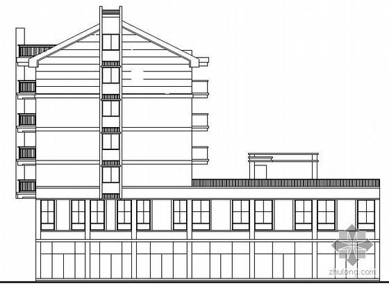 [宿松路]某六层沿街商住楼建筑扩初图