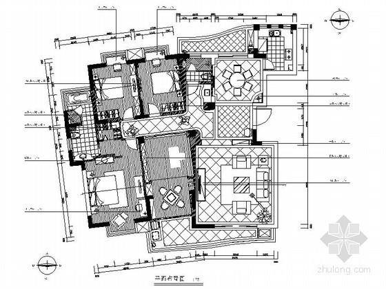 欧式四居室古典装饰装修图